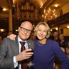 Erwin de Vries (eigenaar Godert Walter) en partner Hermine de Knijff .