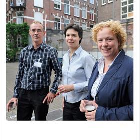 Jan Kamp (beleidsassistent auteurs, Letterenfonds), Beyke Maas (bemiddelaar SSS), Roos Wolters (beleidsmedewerker Stichting Lezen.).
