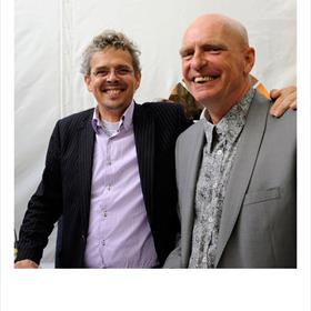 """Erick de Boer (technisch directeur, EM Cultuur), Jaap van der Kreeft (Toxus software). 'Zonder ons had """"W.Shakespeare, auteur"""" ook een uitnodiging voor de opening gehad.'"""