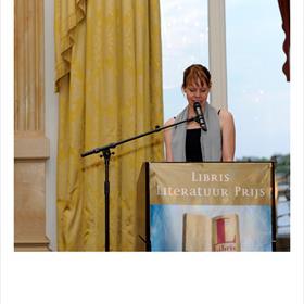Saskia Pieterse (jurylid en universitair docent Moderne Nederlandse Letterkunde,Universiteit Utrecht).