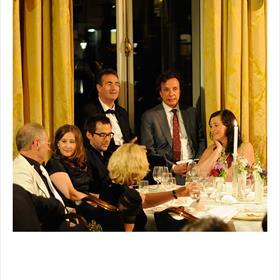 De tafel van Ivo Victoria: Gwena Jaouen (online sales- en marketingmanager De Arbeiderspers|A.W. Bruna), Ivo Victoria, Chris Herschdorfer (Ambo|Anthos), Paul Sebes (literair agent) en Wanda Gloude (uitgever Anthos literaire thrillers).