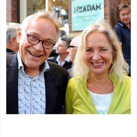 Henk ter Borg (uitgever Nieuw Amsterdam),Annemiek Hoogenboom (mede-eigenaar Nieuw Amsterdam).
