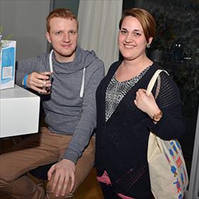 Maritza Dubravac (boekhandel Donner)en partner Marek.