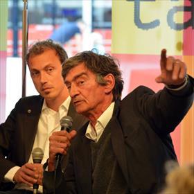 Boekhandel Westerhofgaat voor de thrill:Bart-Jan Kazemier (Drone) en Tomas Ross (Van de doden niets dan goeds). (Cargo / De Bezige Bij) over thrillers en faction.