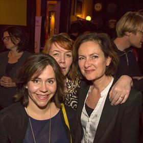 Suzan Schapendonk (eigenaar Kip & Ei Communicatie), Willemijn Tillmans, vriendin van beide dames, Nathalie Doruijter.