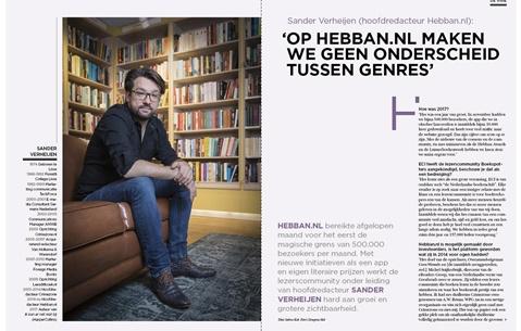Sander Verheijen (hoofdredacteur Hebban.nl): 'Op Hebban.nl maken we geen onderscheid tussen genres'