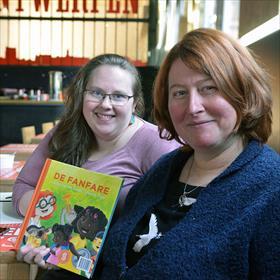 Sanne Thijs (illustrator), Petra van der Geest (auteur) maakten samen 'De Fanfare' tijdens Sesam 1.0