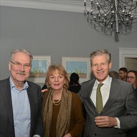 Geert Noorman (v/h Nederlands uitgeversverbond – NUV, bestuursvoorzitter International Publishers Rights Organization –  IPRO), Hanca Leppink (voorzitter Dr. P.A. Tiele-Stichting), Wiet de Bruijn (CEO Shared Stories Group).
