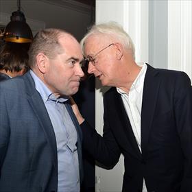 Wijnand Spring in 't Veld (voorzitter KBb Ledenraad) en Henk Kraima (adviseur KBb) adviseert.
