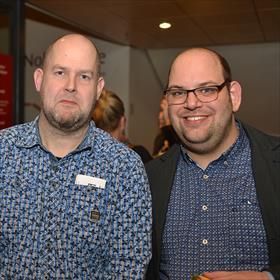 Bas Rol, Johan Vos (boekhandel Broekhuis).