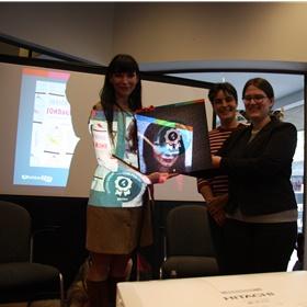 Judith Visser wint met 'Zondagskind' de Hebban Literatuur Clubprijs.