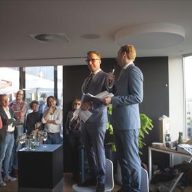 De jubilarissen! Paul Sebes en Willem Bisseling