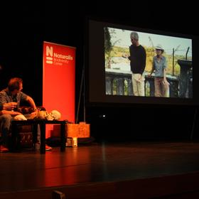 Een videoboodschap van José Joordens (NaturalsMarine biologist and paleoecologist) voor Frank. Zij kon niet aanwezig zijn.