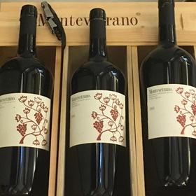 Voor bij het hoofdgerecht; Montevetrano, wijn uit Salerno, Italië uit 2006.