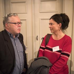 Aanstaand laureaat van de Martinus Nijhoffprijs 2019 en literair vertaler Roemeens Jan Willem Bos in gesprek met Alexandra Koch (Schwob / Letterenfonds).
