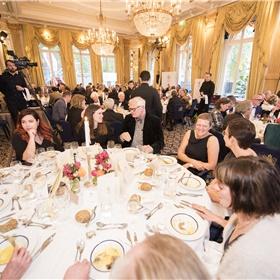 Zo ziet zo'n Libris diner in de Spiegelzaal er dus uit.