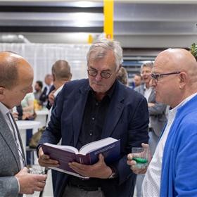 Mark Vermeer (Bruna IJburg, bestuurder KBb), Klaas de Boer (227 Search), Bert Veltman (Veltman Uitgevers)