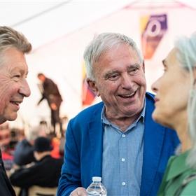K. Schippers en Henk Hofstede.