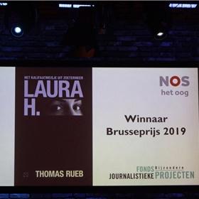 Het moment, zaterdagavond 15 juni 2019, om 23:40 uur: Thomas Rueb wordt uitgeroepen tot de winnaar van de Brusseprijs 2019. De jury koos zijn boek 'Laura H. Het kalifaatmeisje uit Zoetermeer' als het beste journalistieke boek van afgelopen jaar.