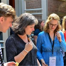 Johan Kuiper (CPNB), Esther Scholten (CBPN) en Mariska Kortie (De Bezige Bij)