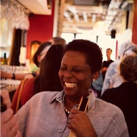Rosemarie Hudson van Hope Road, uitgever van onder meer Cynthia McLeod, Vamba Sherif en binnenkort, Clark Accord.