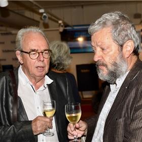 Scenaristen Willem Capteyn en Hugo Heinen.
