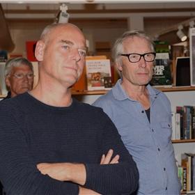Acteur Pieter van der Sman en cameraman Goert Giltaij. Giltaij maakte alle foto's, zowel voor de covers van de serie als voor de website.