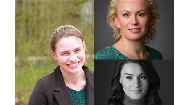 Nicole Lucassen (AtlasContact), Elaine Stap (Meulenhoff Boekerij) en Marianne Florijn ...