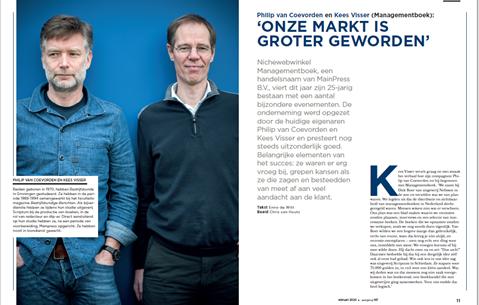 Philip van Coevorden en Kees Visser (Managementboek): 'Onze markt is groter geworden'