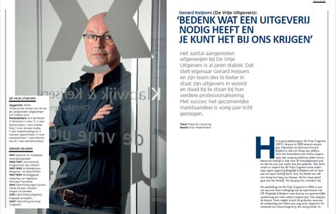 Gerard Keijsers (De Vrije Uitgevers): 'Bedenk wat een uitgeverij nodig heeft en je kunt het bij ons krijgen'