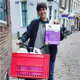 Een van de fietskoeriers van Savannah Bay, Utrecht