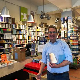 Frank Reijgwart van boekhandel van Noord, Amsterdam