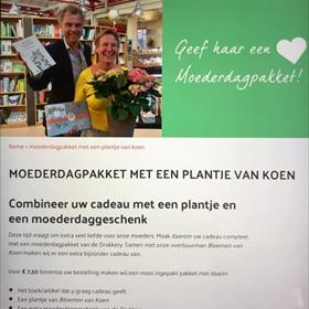 Even verderop in Zeeland: Moederdagactie van De Drvkkery Middelburg in samenwerking met bloemist.
