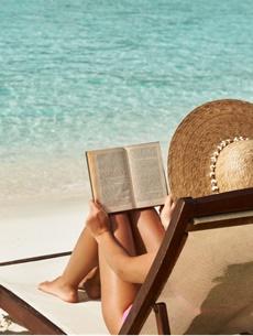 Boekblad is met vakantie