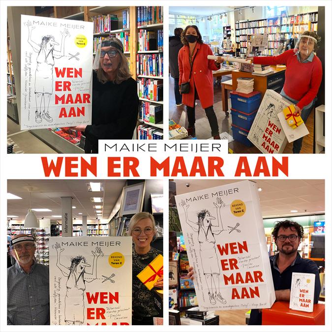 Maike Meijer tournee: honderd boekhandels in zeven dagen
