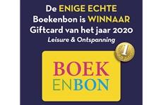 Boekenbon winnaar Giftcard van het jaar 2020 Leisure en Ontspanning