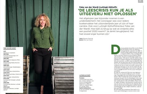 Febe van der Wardt (Luitingh-Sijthoff): 'De leescrisis kun je als uitgeverij niet oplossen'