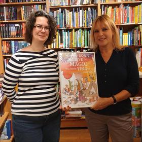 Sabrina en Mascha van boekhandel Los, Bussum