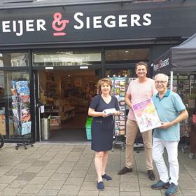 Wim en Helma Kersten van boekhandel Meijer en Siegers, Oosterbeek