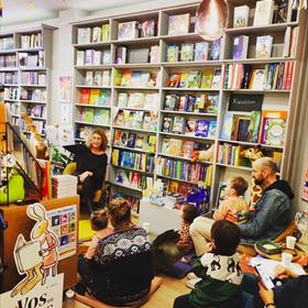 Voorlezen bij De Kinderboekhandel in Amsterdam.