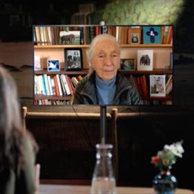 Zij ging dinsdag digitaal in gesprek met de inmiddels 87-jarige Goodall.