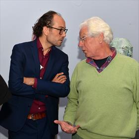 Michael Stoker (directeur Het Literatuurhuis Utrecht), Hans Vermeulen (voormalig Nacht-fotograaf).