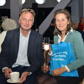 Ymke Kreiken (VPRO Boeken) en partner.