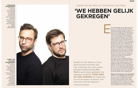 Daniël van der Meer en Toine Donk (Das Mag): 'We hebben gelijk gekregen'