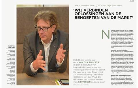 Hans van der Wind (CEO Van Dijk Educatie): 'Wij verbinden oplossingen aan de behoeften van de markt'