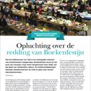 Opluchting over de redding van Boekenfestijn