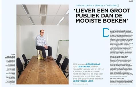 Joris van de Leur (directeur De Fontein): 'Liever een groot publiek dan de mooiste boeken'