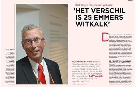 Bart Jansen (Boekhandel Verkaaik): 'Het verschil is 25 emmers witkalk'